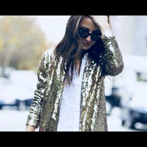 Adrianna Papell sequined jacket, top blazer Sz 10